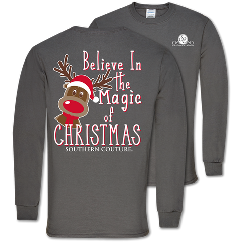 Southern Couture Classic Magic of Christmas Holiday Long Sleeve T-Shirt