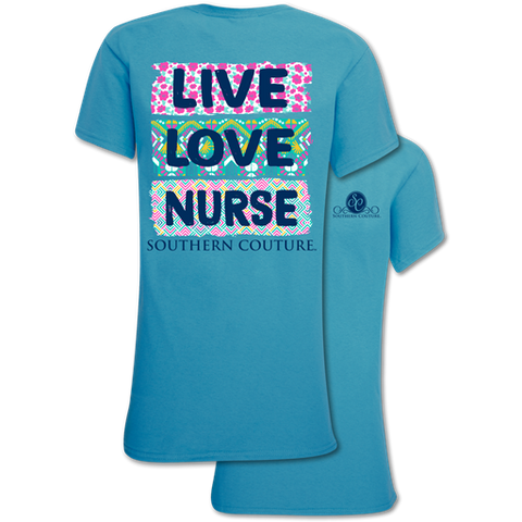 Southern Couture Classic Live Love Nurse T-Shirt