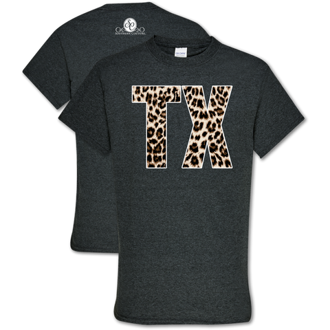 Southern Couture Soft Collection Leopard Texas T-Shirt
