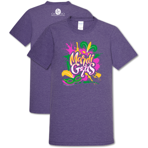 Southern Couture Soft Collection Mardi Gras Splash T-Shirt