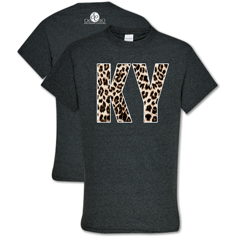 Southern Couture Soft Collection Leopard Kentucky T-Shirt