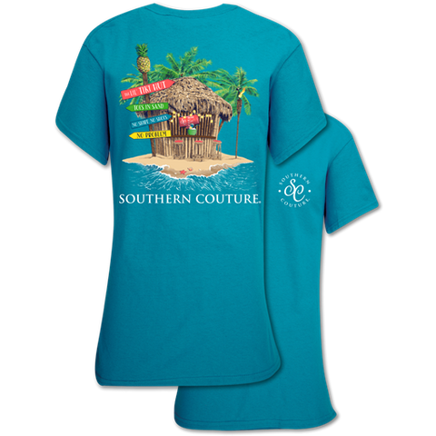 Southern Couture Classic Collection Tiki Hut Beach T-Shirt