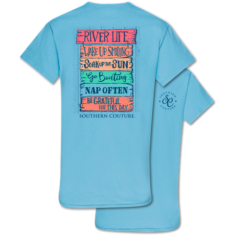Southern Couture Classic Collection River Life Signs T-Shirt