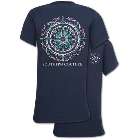 Southern Couture Classic Collection Nautical Ship Wheel T-Shirt
