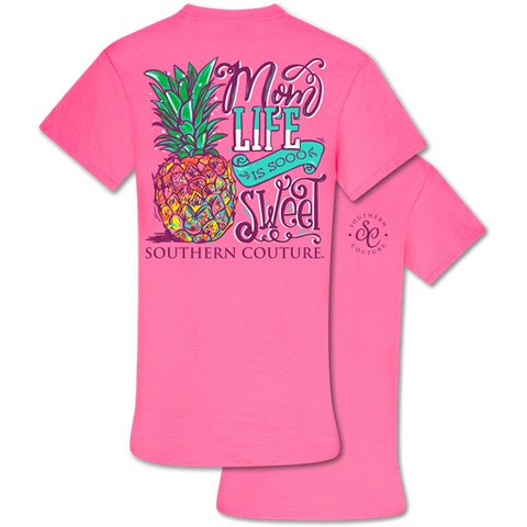 Southern Couture Classic Collection Mom Life is Sweet Pineapple T-Shirt