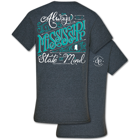 Southern Couture Classic Collection Mississippi State Of Mind T-Shirt
