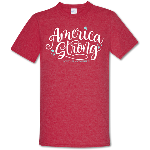 Southern Couture Soft Collection America Strong USA T-Shirt