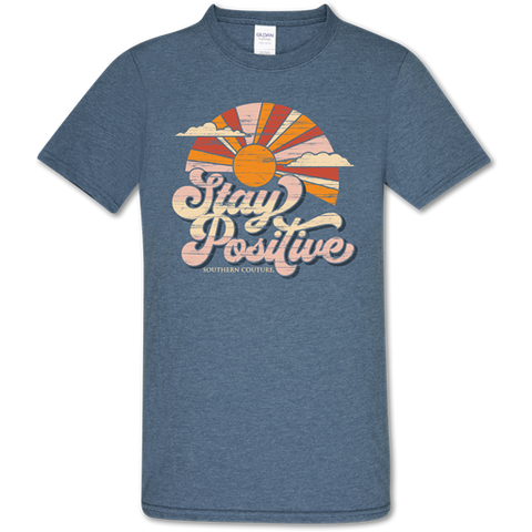 Southern Couture Soft Collection Stay Positive Sunset T-Shirt