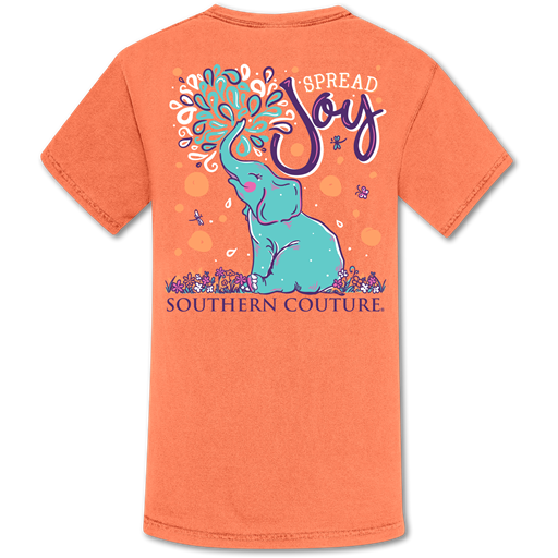 Southern Couture Spread Joy Elephant Comfort Colors T-Shirt