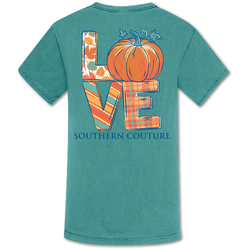 Southern Couture Love Pumpkin Fall Comfort Colors T-Shirt