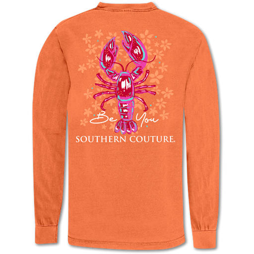 Southern Couture Be You Crawfish Comfort Colors Long Sleeve T-Shirt