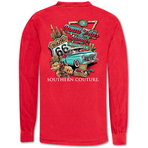 Southern Couture Road Trips Always Comfort Colors Long Sleeve T-Shirt