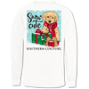Southern Couture Snow Cute Holiday Comfort Colors Long Sleeve T-Shirt