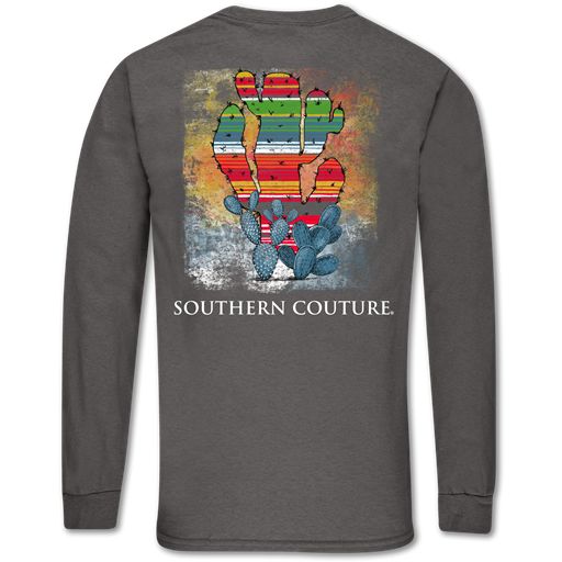 Southern Couture Classic Serape Cactus Long Sleeve T-Shirt