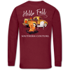 Southern Couture Classic Hello Fall Bonfire Truck Long Sleeve T-Shirt