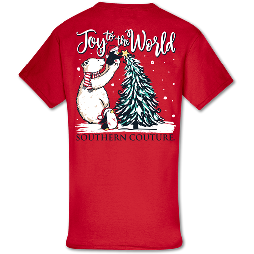 Southern Couture Classic Joy to the World Holiday T-Shirt