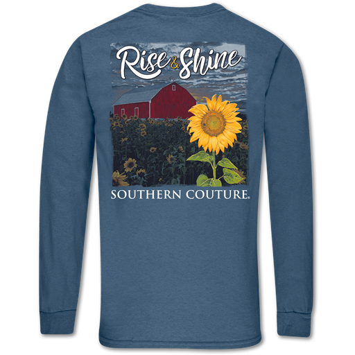 Southern Couture Classic Rise & Shine Sunflower Long Sleeve T-Shirt