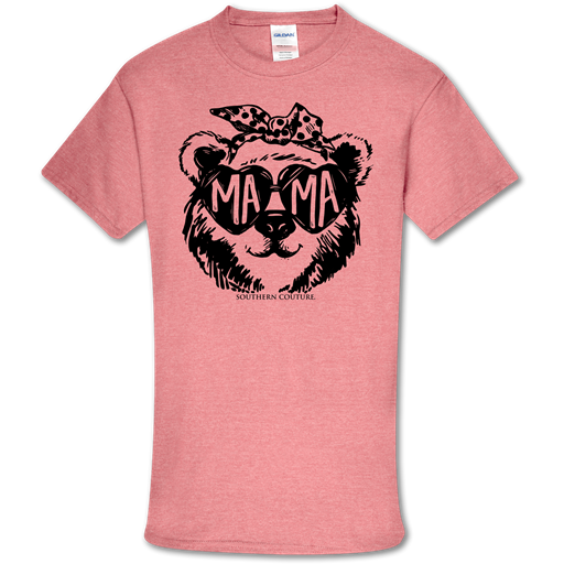 Southern Couture Soft Collection Mama Bear Glasses T-Shirt