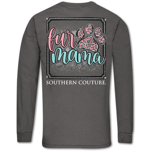 Southern Couture Classic Fur Mama Paw Long Sleeve T-Shirt