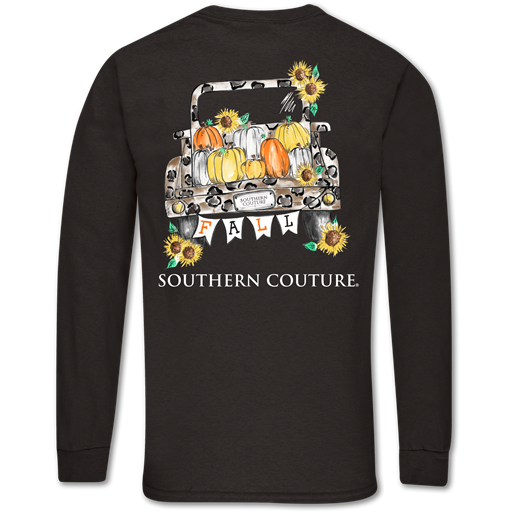 Southern Couture Classic Fall Leopard Truck Long Sleeve T-Shirt