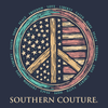 Southern Couture Classic USA Peace Sign T-Shirt