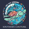 Southern Couture Classic Just Keep Swimming Turtle T-Shirt