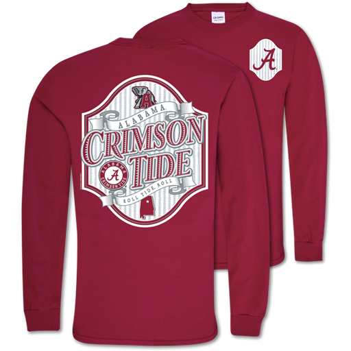 Southern Couture Classic Alabama Seersucker Long Sleeve T-Shirt