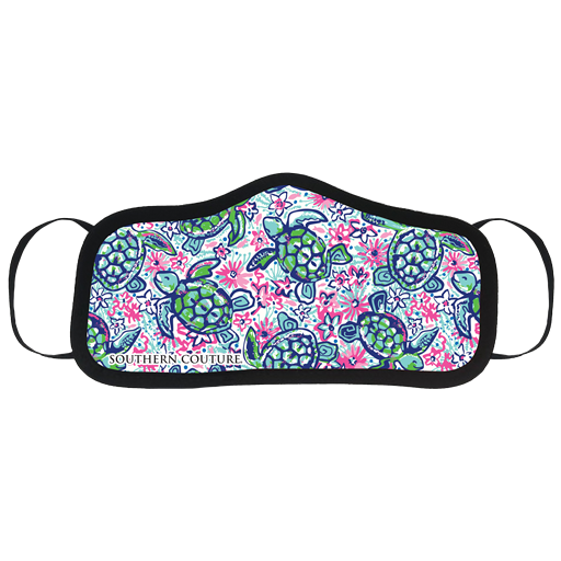 SALE Southern Couture Preppy Turtles Protective Mask