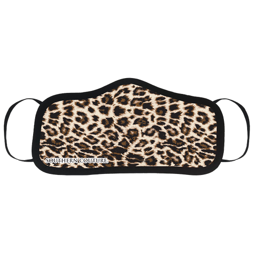 SALE Southern Couture Solid Leopard Protective Mask