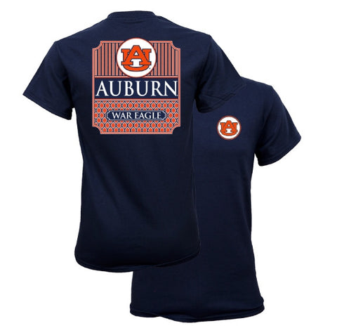 Southern Couture University of Auburn War Eagle Classic Preppy Girlie Bright T Shirt