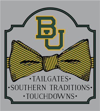 Southern Couture University of Baylor Bears Classic Bow Girlie Bright T Shirt - SimplyCuteTees