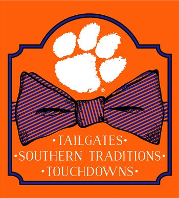 Southern Couture South Carolina Clemson Tigers Classic Preppy Bow T-Shirt - SimplyCuteTees
