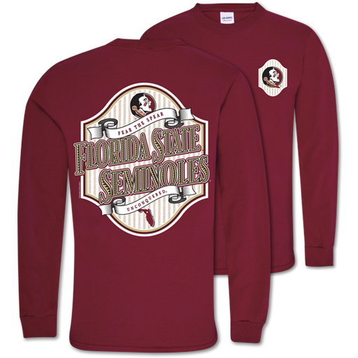Southern Couture Classic Florida State Seersucker Long Sleeve T-Shirt