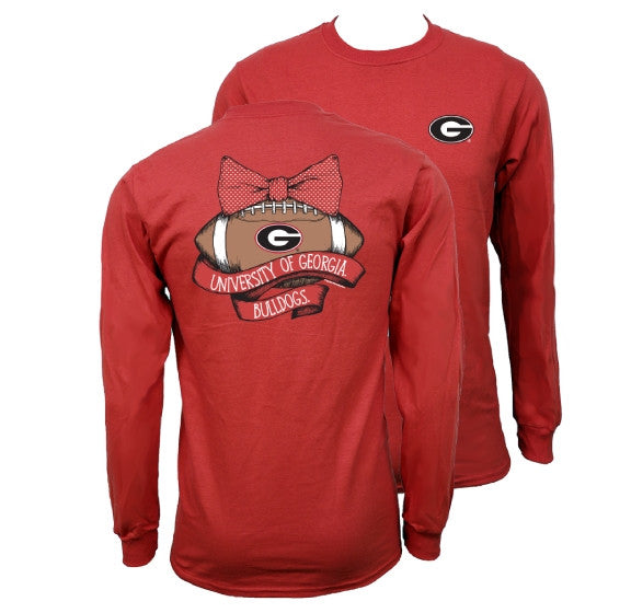 Southern couture georgia bulldogs vintage football long for Simply for sports brand t shirts