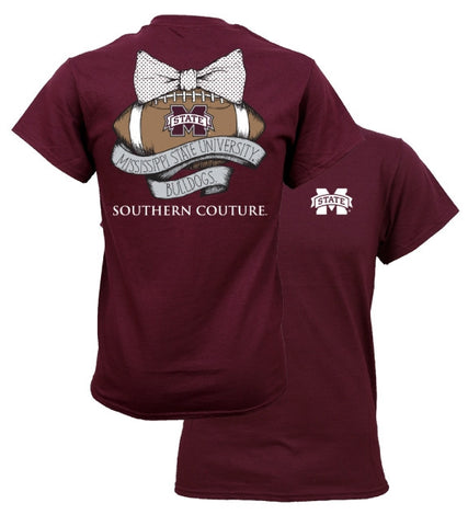 Southern Couture MSU Bulldogs Mississippi State Vintage Football T-Shirt - SimplyCuteTees