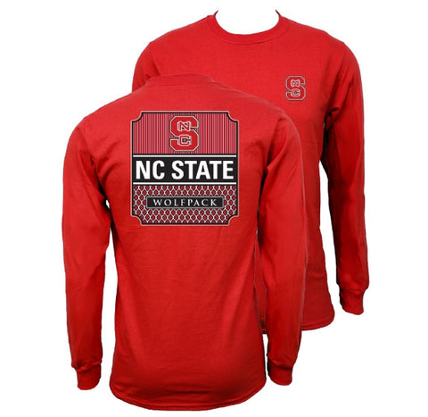 Southern Couture North Carolina NC State Wolfpack Preppy Logo Long Sleeve T-Shirt