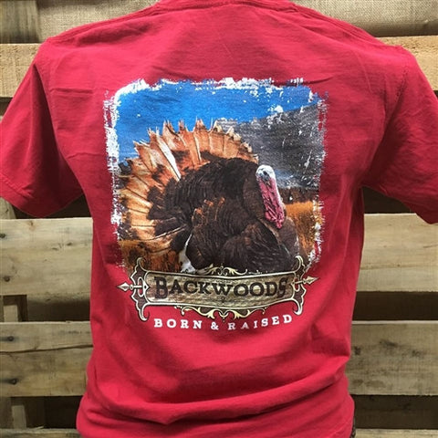 Backwoods Born & Raised Turkey Comfort Colors Unisex Bright T Shirt - SimplyCuteTees