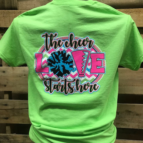 379f5c553433 Southern Chics Cheerleader Cheer Love Go Team Girlie Bright T Shirt