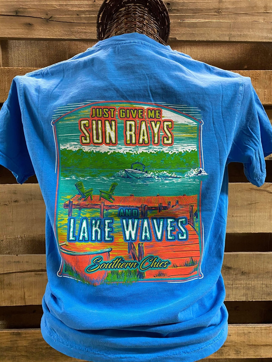 Southern Chics Sun Rays and Lake Waves Bright Comfort Colors Unisex T Shirt