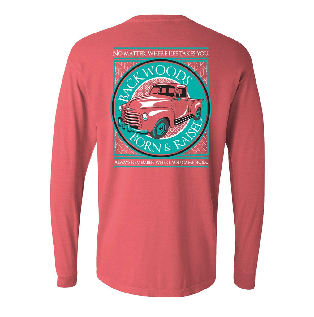 Bright colored cars for sale - Backwoods Born Raised Comfort Colors No Matter Where Life Takes You Car Unisex Long Sleeve Sale