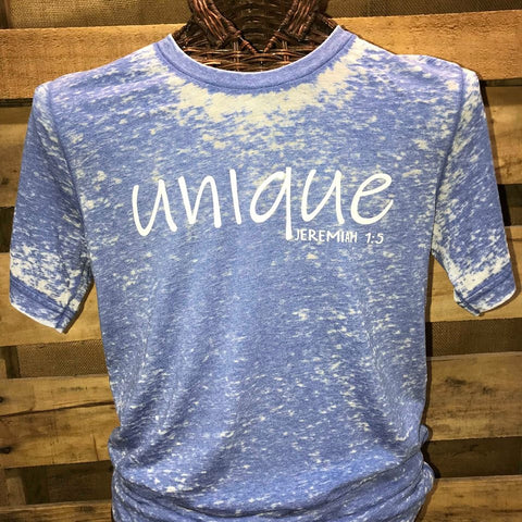 Southern Chics Apparel Unique Jeremiah 1:5 Acid Wash Canvas Girlie Bright T Shirt