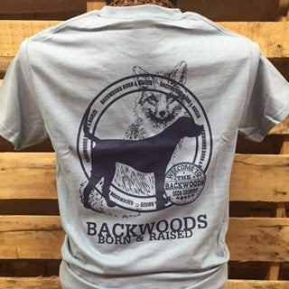 Backwoods Born & Raised Fox & Dog Unisex Bright T Shirt - SimplyCuteTees
