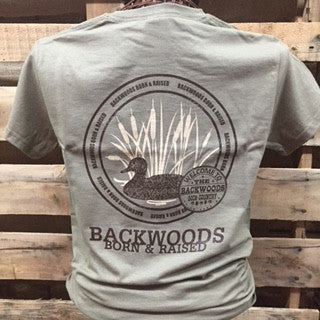 Backwoods Born & Raised Duck Unisex Bright T Shirt - SimplyCuteTees