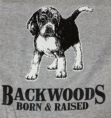 Backwoods Born & Raised Dog Puppy Beagle Bright Unisex Toddler Youth T Shirt - SimplyCuteTees