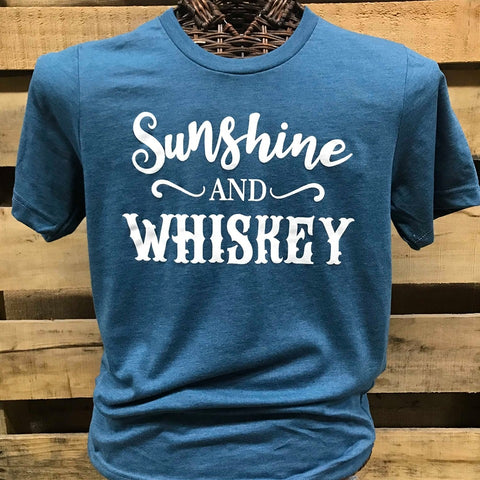 80bb2dcd2 Southern Chics Apparel Sunshine and Whiskey Canvas Girlie Bright T Shirt