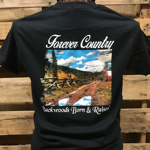 Backwoods Born & Raised Forever Country Unisex Bright T Shirt
