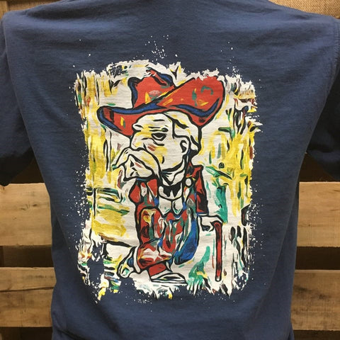 Backwoods Cowboy Watercolor Colonel Comfort Colors Bright Unisex T Shirt - SimplyCuteTees