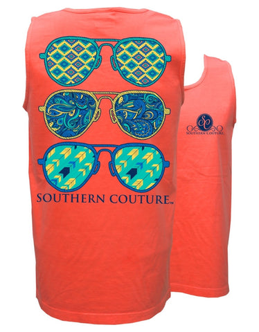 Southern Couture Wild Aviators Comfort Colors Tank Top - SimplyCuteTees