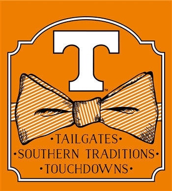 Southern Couture University of Tennessee Volunteers Vols Preppy Bow Girlie Bright T Shirt - SimplyCuteTees