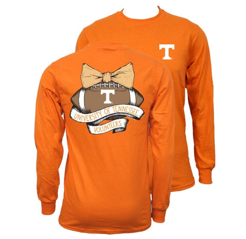 Southern Couture Tennessee Volunteers Vols Vintage Football Long Sleeve T-Shirt - SimplyCuteTees